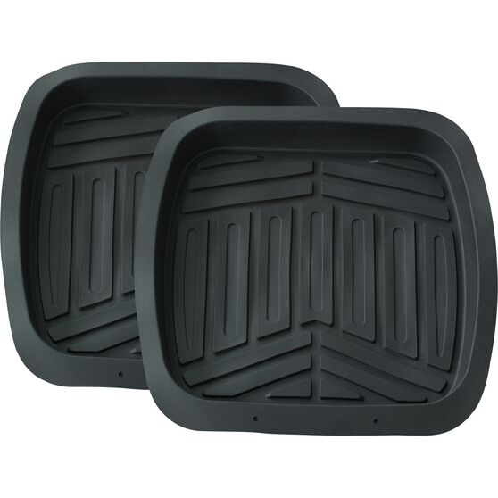 Ridge Ryder Deep Dish Car Floor Mats - Black Rear Pair, , scaau_hi-res