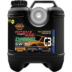 Penrite Outback Hardened 4x4 C3 Engine Oil 5W-30 7 Litre, , scaau_hi-res