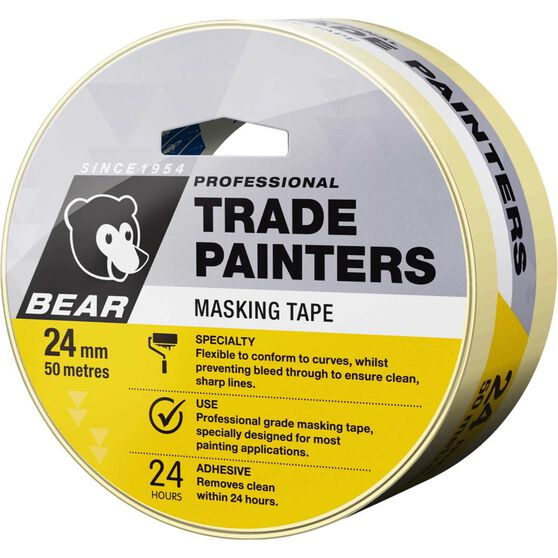 Norton Trade Painters Masking Tape - 24mm x 50m, , scaau_hi-res