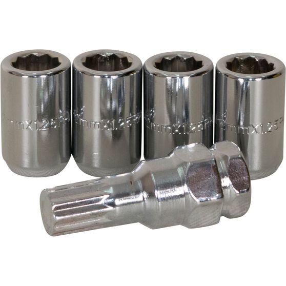 Calibre Wheel Nuts, Tapered Slim, Chrome - SLIMN12125, 12mm x 1.25mm, , scaau_hi-res