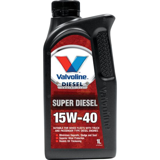 Valvoline Super Diesel Engine Oil - 15W-40 1 Litre, , scaau_hi-res