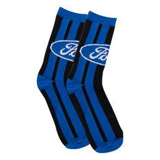 Ford Blue Oval Stripe Socks, , scaau_hi-res