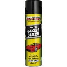 Septone Acrylic Aerosol Paint - Gloss Black, 400g, , scaau_hi-res