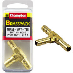 Champion T Pieces - 3 / 8inch, Brass, , scaau_hi-res