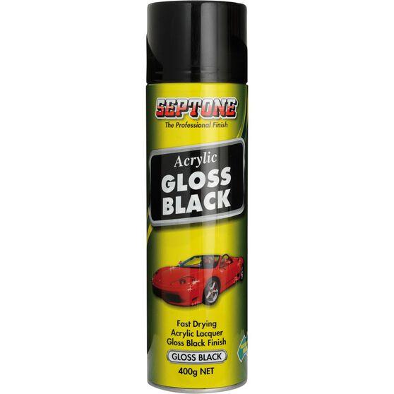 Septone Acrylic Paint Gloss Black 400g, , scaau_hi-res