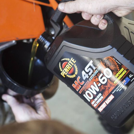 Penrite MC-4 Synthetic Motorcycle Oil - 10W-60 , 4 Litre, , scaau_hi-res