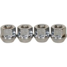 Wheel Nuts, Tapered Open End, Chrome - 7/16, , scaau_hi-res