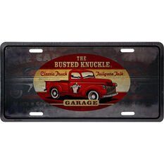 Busted Knuckle Tin Sign - Truck, , scaau_hi-res