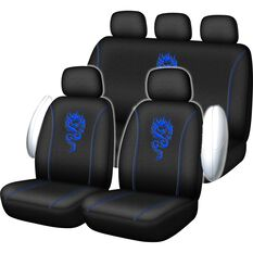 SCA Dragon Seat Cover Pack - Blue Adjustable Headrests Size 30 and 06H Airbag Compatible, , scaau_hi-res