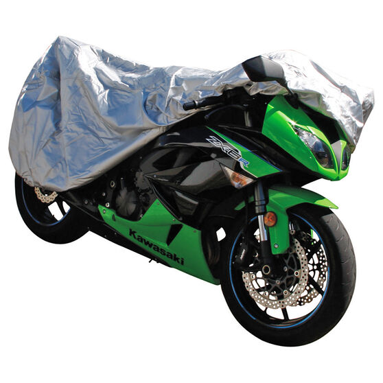 CoverALL Motorcycle Cover Silver Protection Water Resistant - Medium, Suits 750-1000cc, , scaau_hi-res