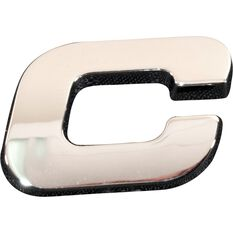 SCA 3D Chrome Badge Letter C, , scaau_hi-res