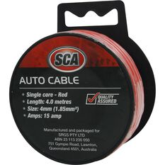 SCA Auto Cable - 15 AMP, 4mm, 4m, Red, , scaau_hi-res