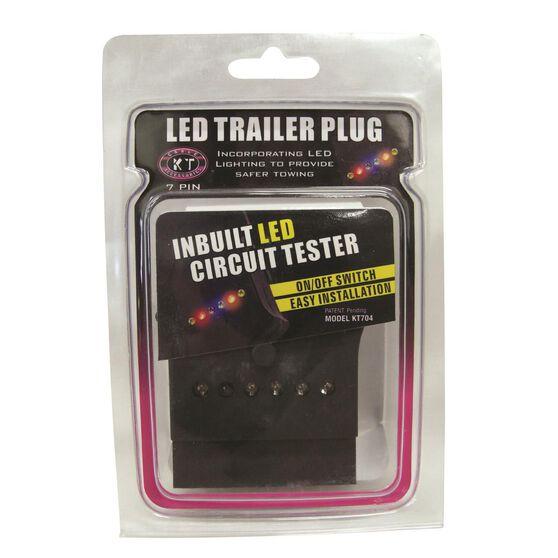 Trailer Plug - 7 Pin Flat, LED, , scaau_hi-res
