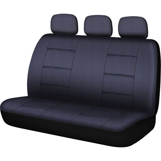 SCA Leather Look Seat Covers - Black, Built-In Headrestss, Size 06H, Rear Seat, , scaau_hi-res