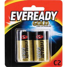 Gold Battery - Long Life Alkaline, C, 2 Pack, , scaau_hi-res