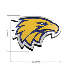 West Coast Eagles AFL Supporter Logo - 3D Chrome Finish, , scaau_hi-res