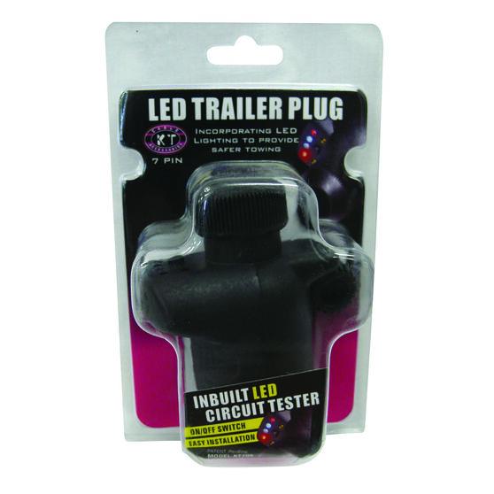 Trailer Plug - 7 Pin Large Round, LED, , scaau_hi-res