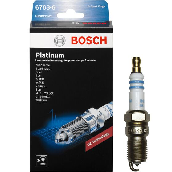 Bosch Platinum Spark Plug - 6703-6, 6 Pack, , scaau_hi-res