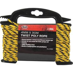 SCA 3 Strand Twist Poly Rope - 4mm X 30m, , scaau_hi-res