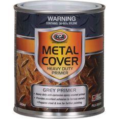Metal Cover Rust Paint - Enamel, Heavy Duty Grey Primer, 500mL, , scaau_hi-res