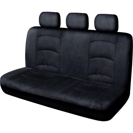 Cloud Premium Suede Seat Covers - Black, Adjustable Headrests, Size 06H, Rear Seat, , scaau_hi-res