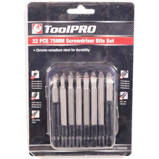 ToolPRO Driver Bit Set - 75mm, 32 Pieces, , scaau_hi-res