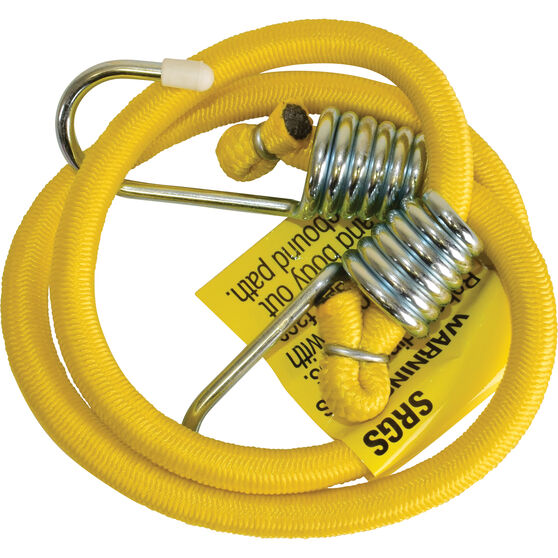 SCA Metal Hook Bungee Cord - 75cm Yellow, , scaau_hi-res