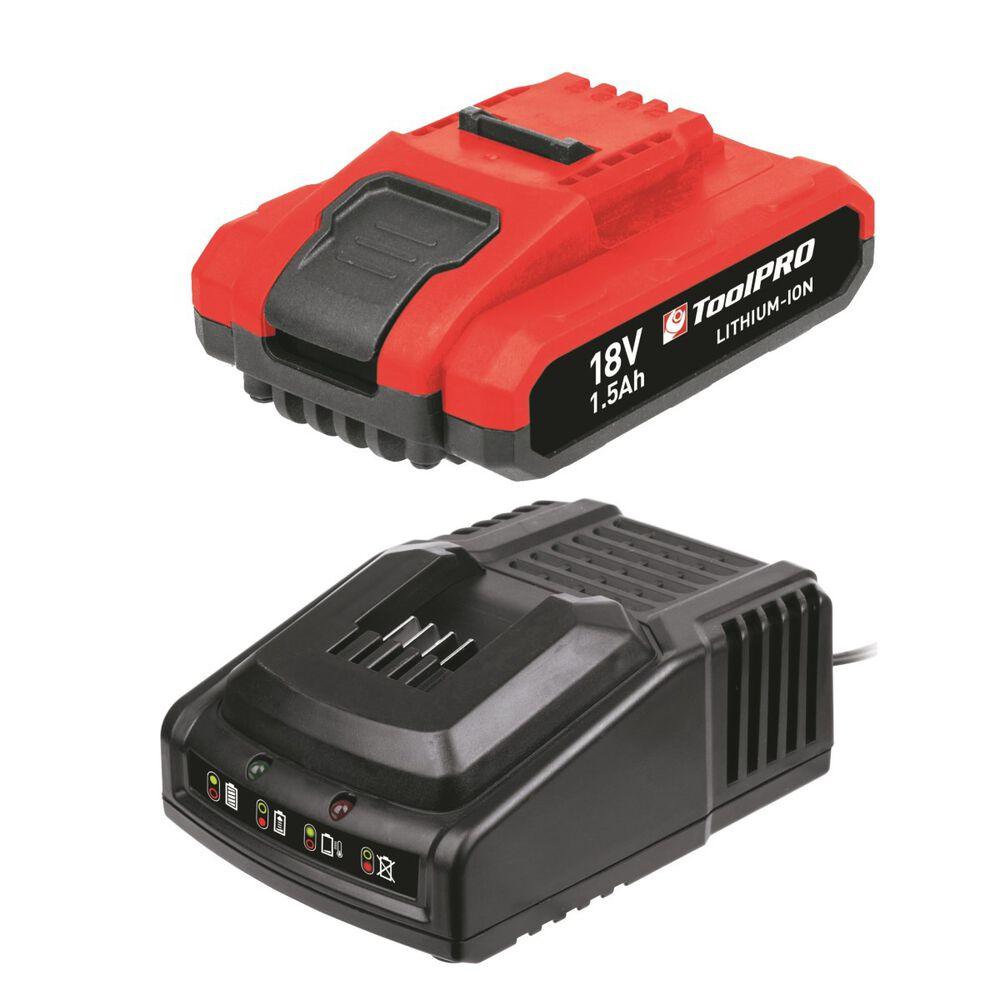 Toolpro Battery Pack With Charger 18v Li Ion Supercheap Auto