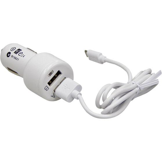 SCA Dual Port Micro USB Car Charger - 12V, , scaau_hi-res