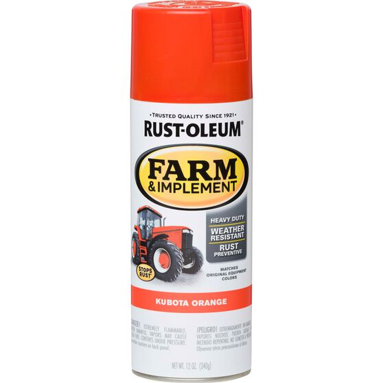 Rustoleum Aerosol Paint - Specialty Farm and Implement Enamel, Kubota Orange, , scaau_hi-res