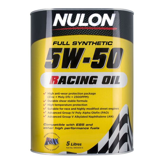 Racing Engine Oil - 5W-50, 5 Litre, , scaau_hi-res