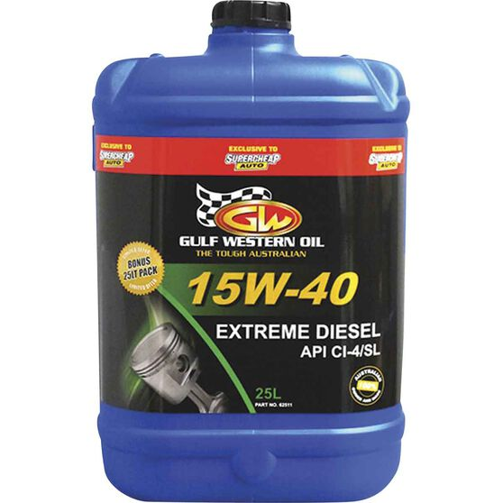 Gulf Western Extreme Diesel Engine Oil 15W-40 25 Litre, , scaau_hi-res