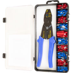 SCA Crimping Tool Kit, 141 Piece with Double Crimp Terminals, , scaau_hi-res