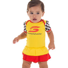 Supercars Babies Bodysuit - Yellow, , scaau_hi-res