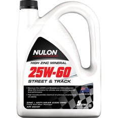 Nulon High Zinc Mineral Street and Track Engine Oil 25W-60 5 Litre, , scaau_hi-res
