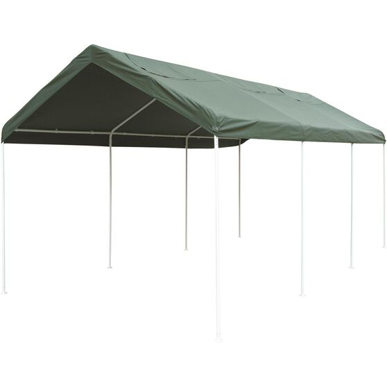 CoverALL Temporary Carport Replacement Tarp - Deluxe, Green, 3 x 6m, , scaau_hi-res
