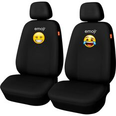 Seat Covers - Black with embroidered logos, Adjustable Headrests, Size 30, Front Pair, Airbag Compatible, , scaau_hi-res