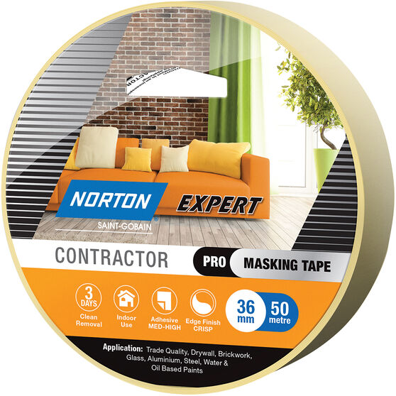 Norton Expert 3 Day Masking Tape - 36mm x 50m, , scaau_hi-res