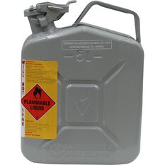 Metal Jerry Can - 2 Stroke, 5 Litre, Grey, , scaau_hi-res