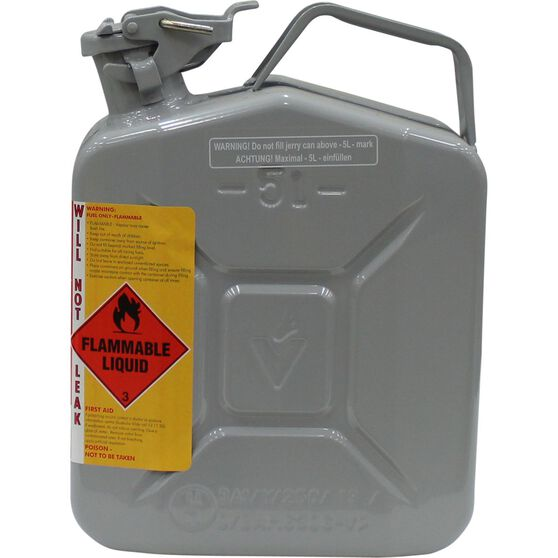 Pro Quip Metal 2 Stroke Jerry Can Grey 5 Litre