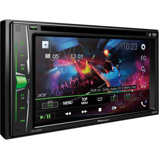 Pioneer 6.2inch Touchscreen DVD Player with Bluetooth - AVH-A205BT, , scaau_hi-res