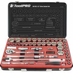"ToolPRO Socket Set 1/2"" Drive Metric/SAE 60 Piece, , scaau_hi-res"