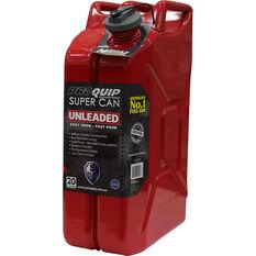 Pro Quip Supercan Metal Petrol Jerry Can - 20 Litre, , scaau_hi-res