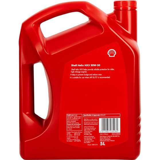 Shell Helix HX3 Engine Oil - 20W-50, 5 Litre, , scaau_hi-res