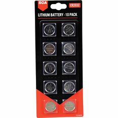 SCA Lithium Coin Battery - CR2032, 10 Pack, , scaau_hi-res