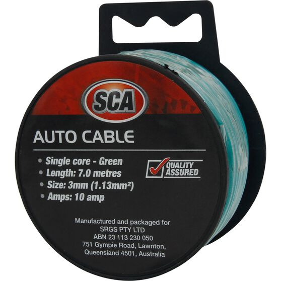SCA Auto Cable - 10 AMP, 3mm, 7m, Green, , scaau_hi-res
