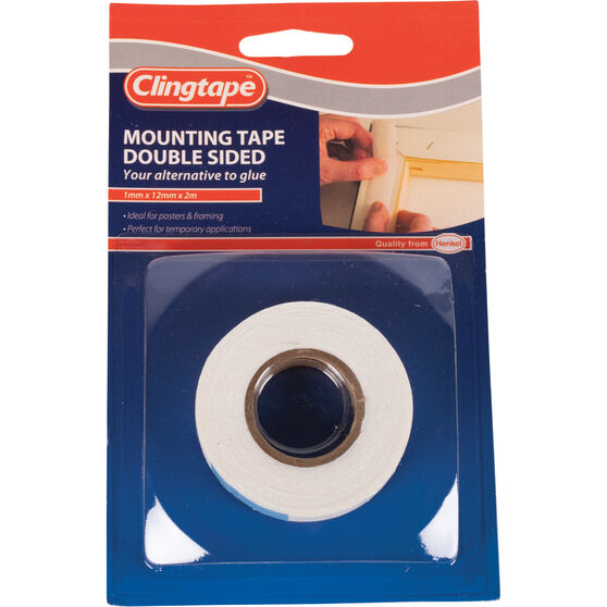 Clingtape Double Sided Tape - Mounting ,12mm x 2m, , scaau_hi-res