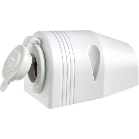 Narva 12V Accessory Socket - Surface Mount, White, , scaau_hi-res