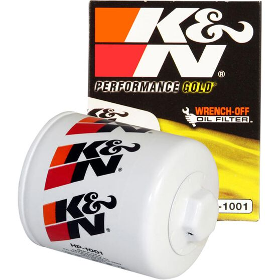 K&N Wrench Off Performance Gold Oil Filter  - HP-1001 (Interchangeable with Z154), , scaau_hi-res