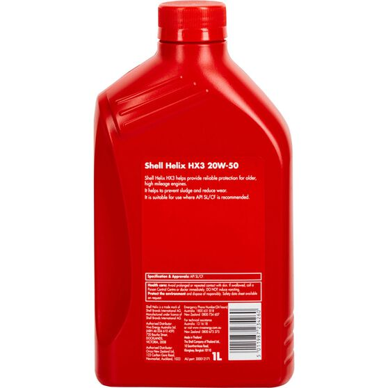Shell Helix HX3 Engine Oil 20W-50 1 Litre, , scaau_hi-res
